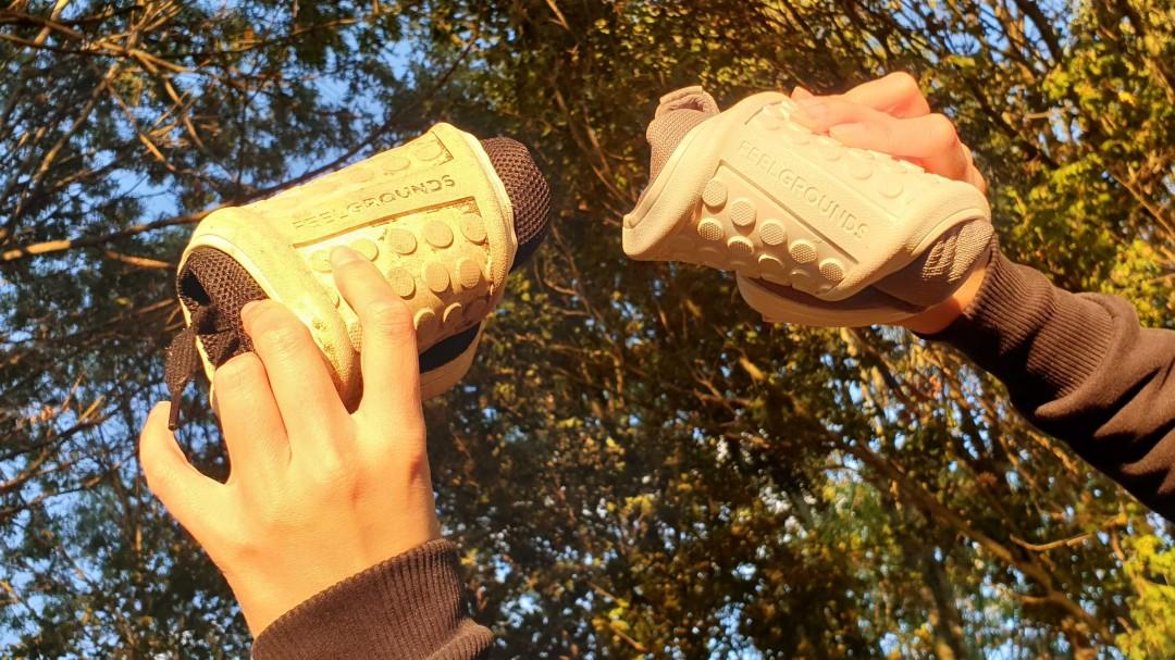 Sowohl der Mesh, als auch der Knit von Feelgrounds sind komplett flexibel
