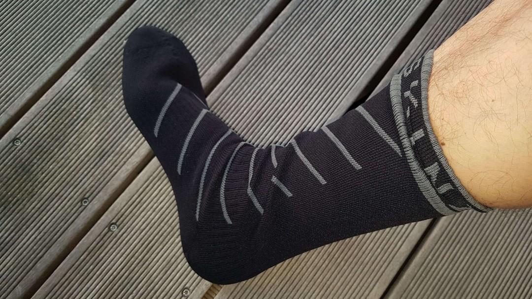Die wasserdichten Socken von SealSkinz sind angenehm zu tragen