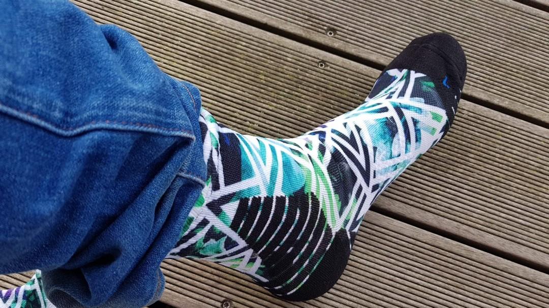 Die wasserdichten Socken von WATERFLY am Fuß