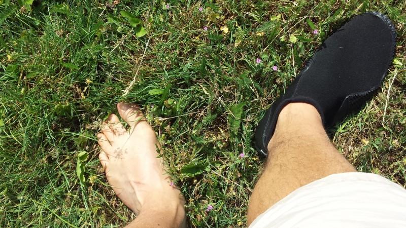 Der Equator von Mares an meinem Fuß